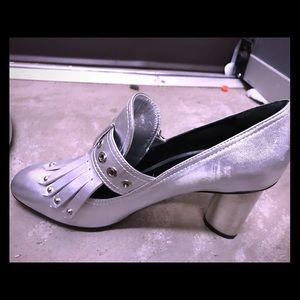 Barbara Bui P5206NMP Silver Heel Shoes Brand New